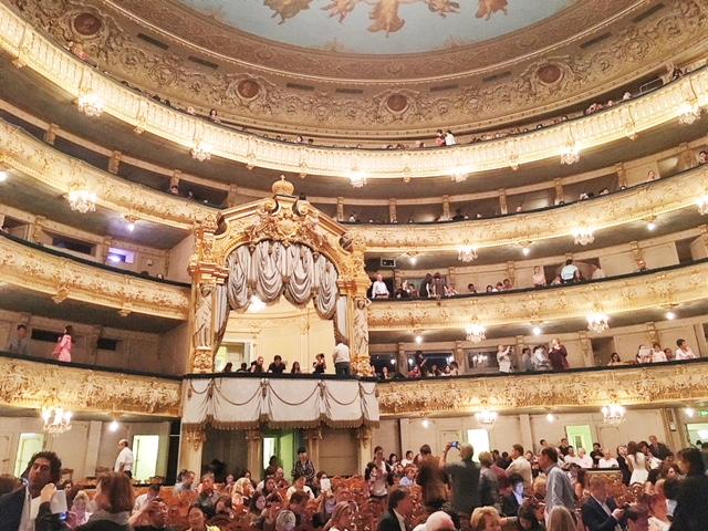 Interno del Teatro Mariinskij San Pietroburgo