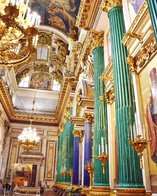 Colonne malachite cattedrale Sant'Isacco