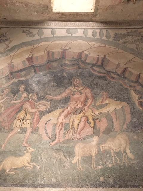 Mosaico di Polifemo Villa Romana del Casale