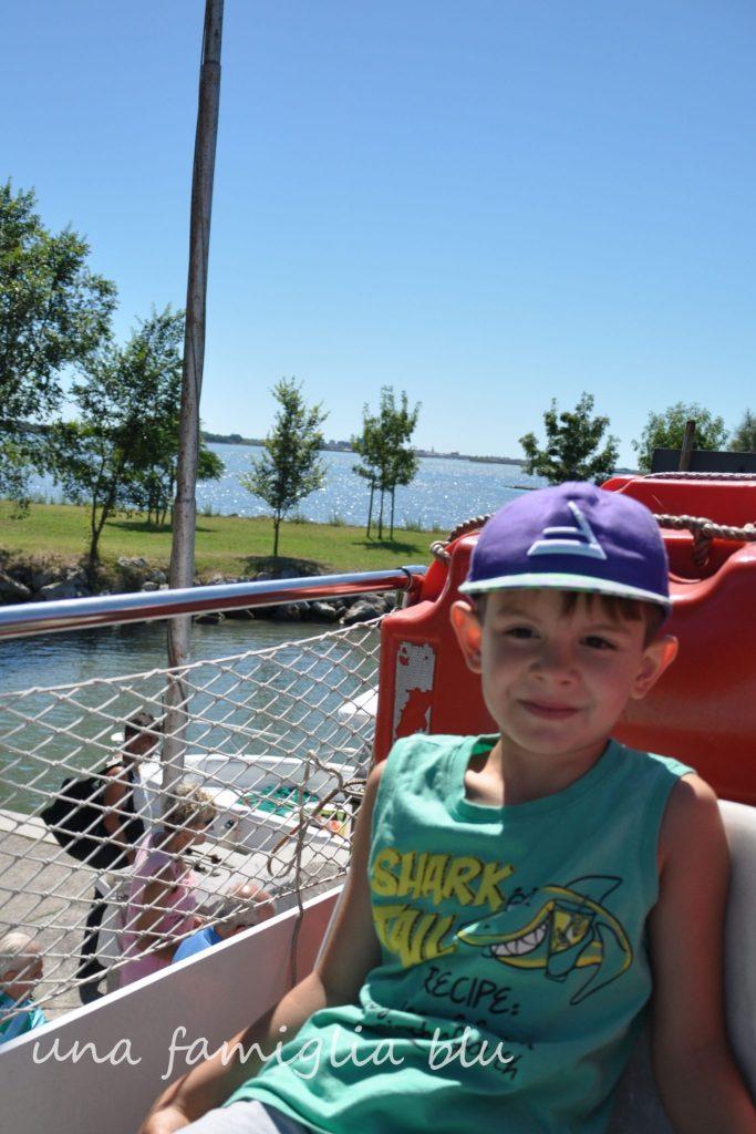 gita in barca a Barbana con bambini