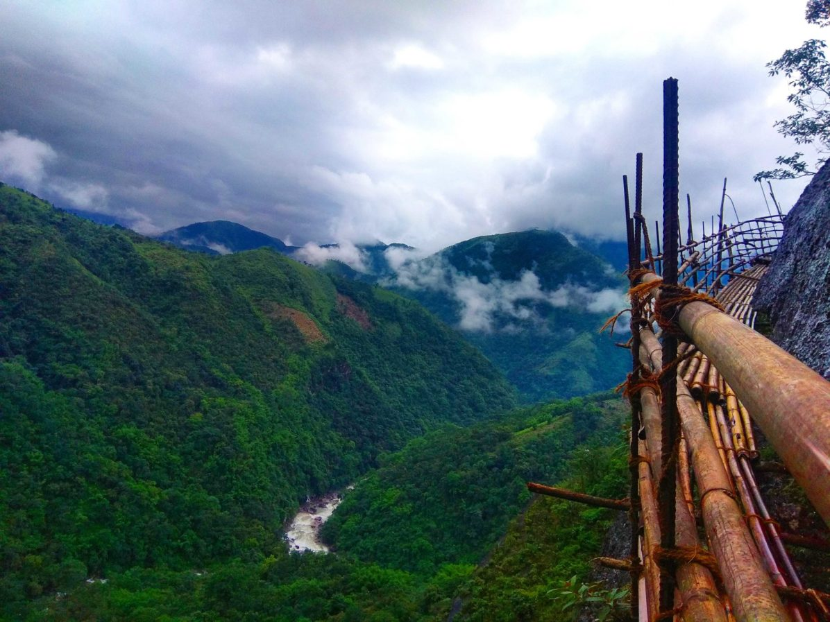 Why is the bamboo trail of Meghalaya considered one of the scariest in northeast India?