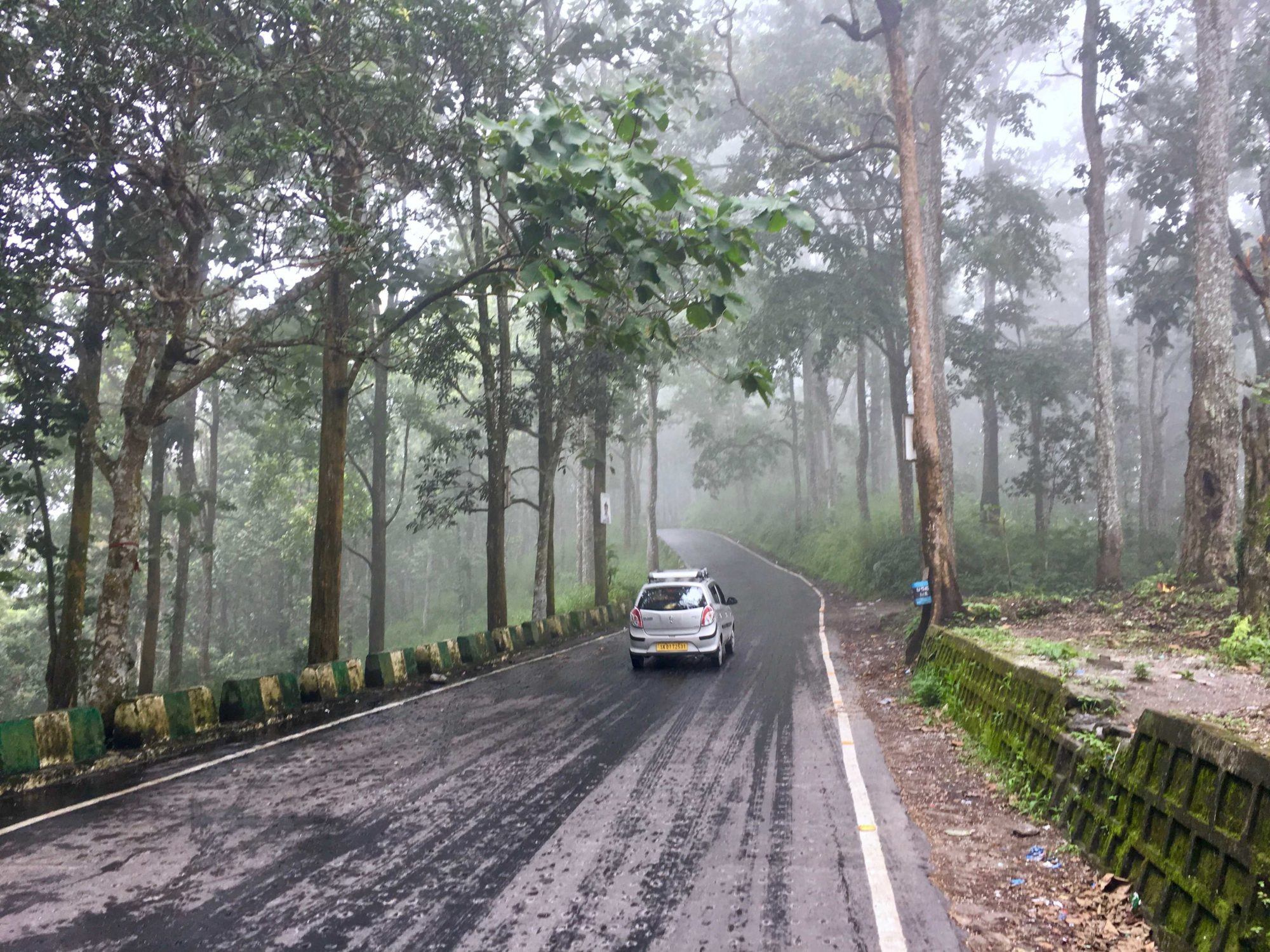What is driving in northeast India like during monsoons?