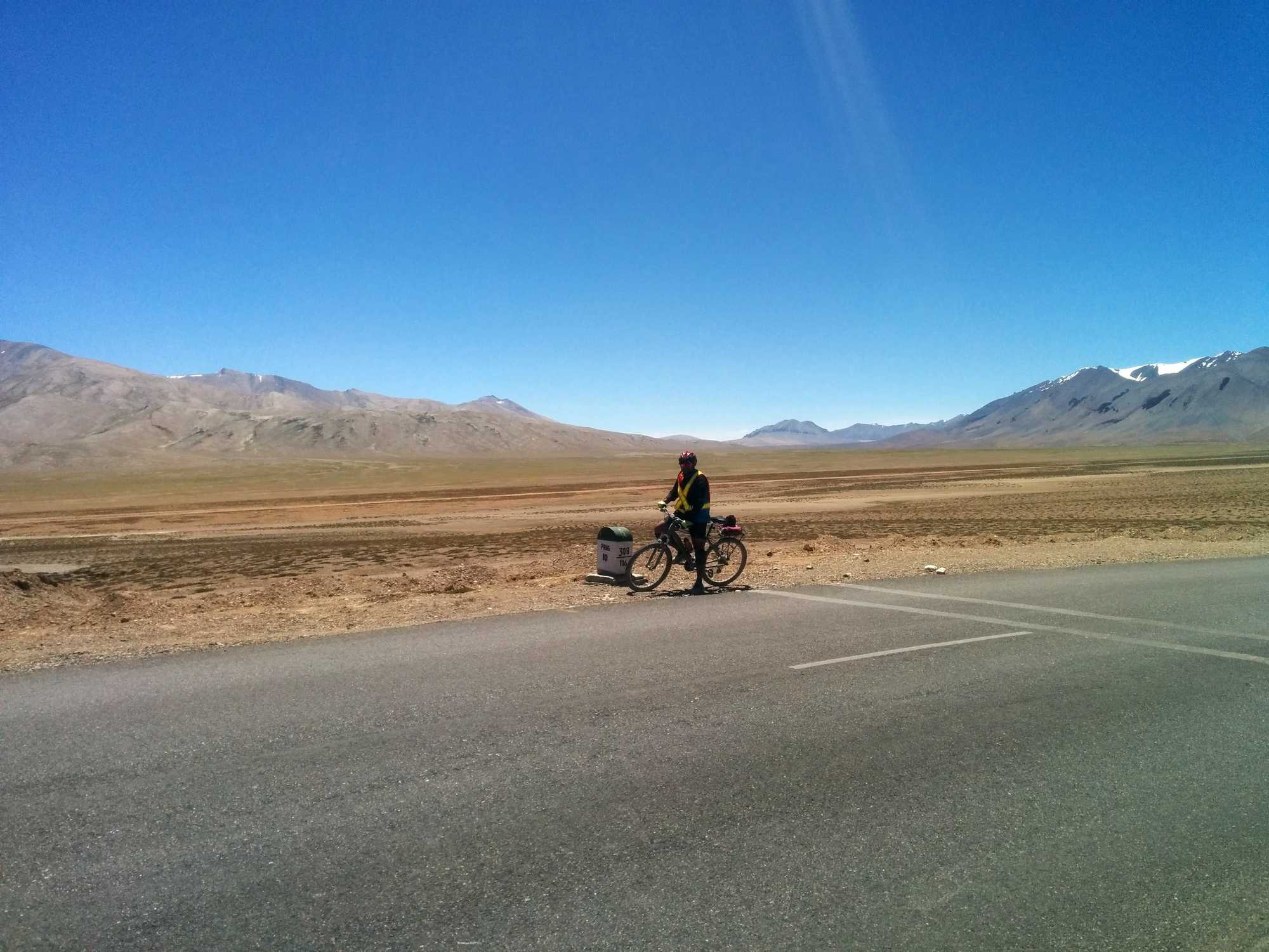 What is the fitness level required to cycle from Manali to Leh?