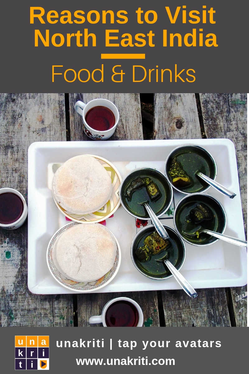 What are some must try food and drinks in northeast India?