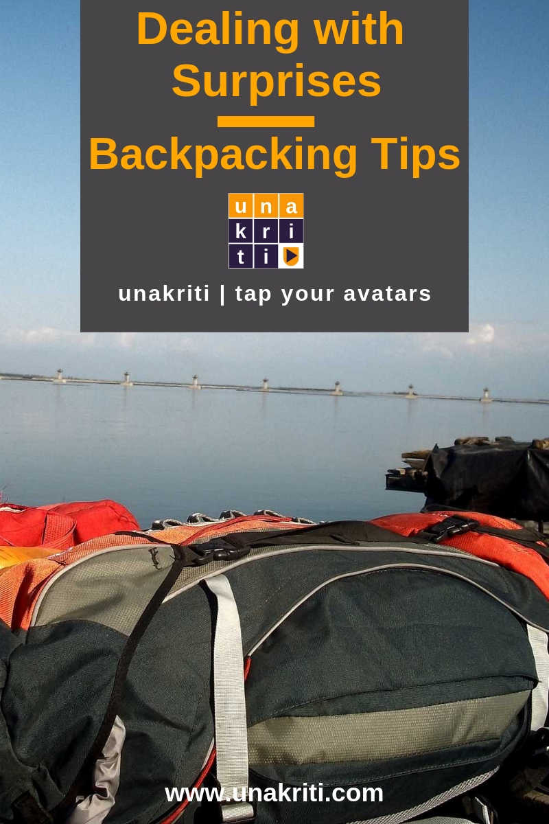 How to deal with backpacking surprises?