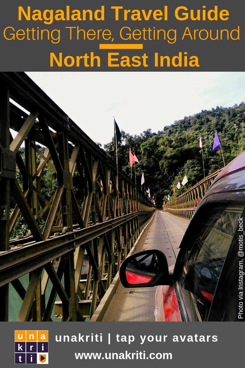 How to get to Nagaland in northeast India and what are the local transport options once there?