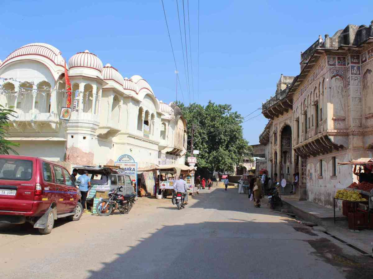 Why is Naya Bazaar of Nawalgarh a potential museum scape?