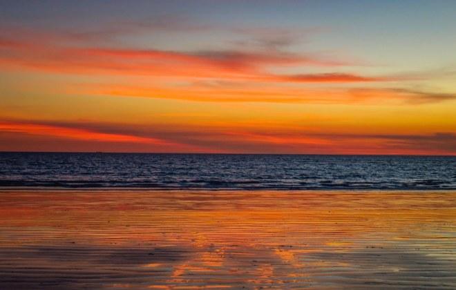 Coucher de soleil à Cable Beach, Australie-Occidentale