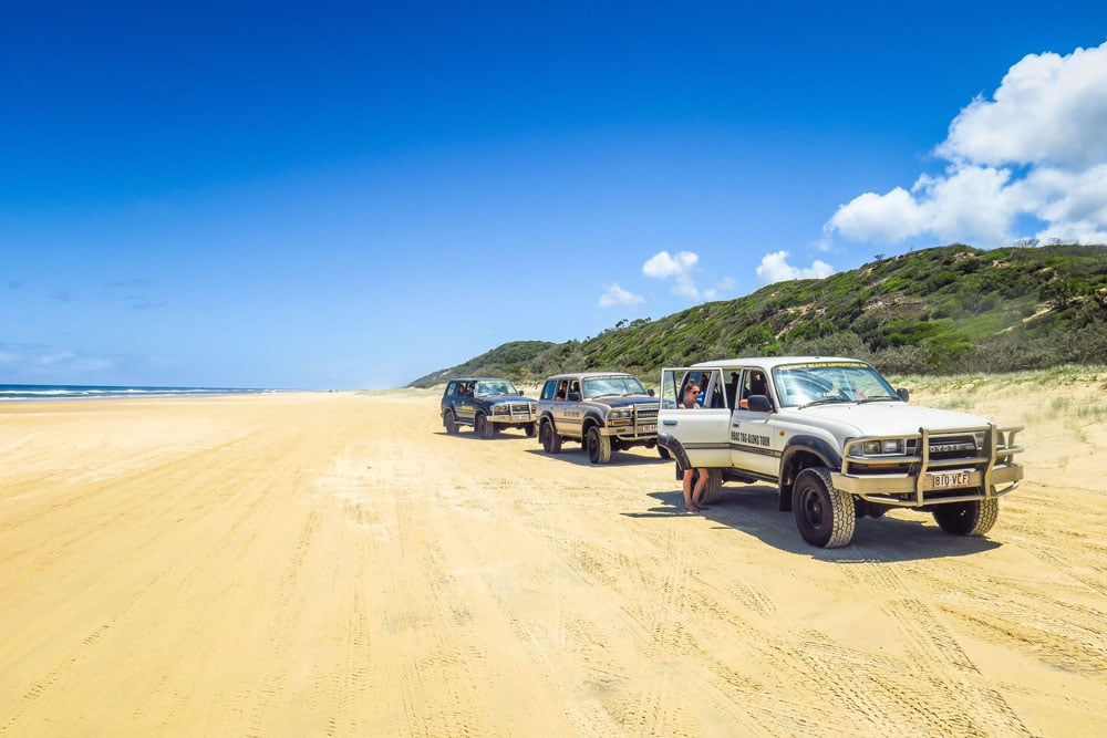 75 Mile Beach sur Fraser Island