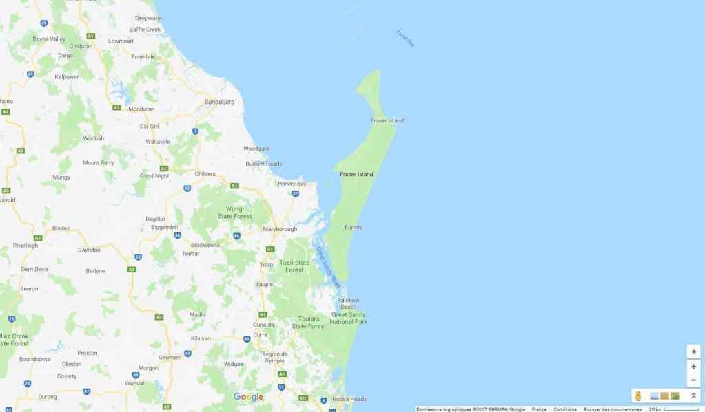 Plan de Fraser Island