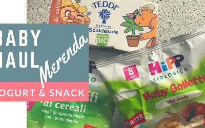 Baby Haul Merenda: acquisti omogeneizzati di frutta, yogurt e snack ai cereali