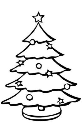Passatempo divertente ed educativo per il periodo natalizio Disegni Dell Albero Di Natale Da Stampare E Colorare Ecco I Piu Belli
