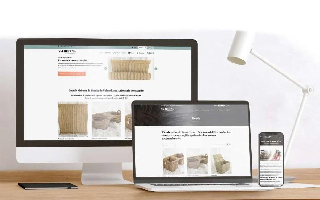 Diseño web para Valme Luna