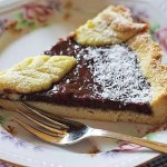 Todays sweet treatChocolate and Pear Tart! Link to recipe inhellip