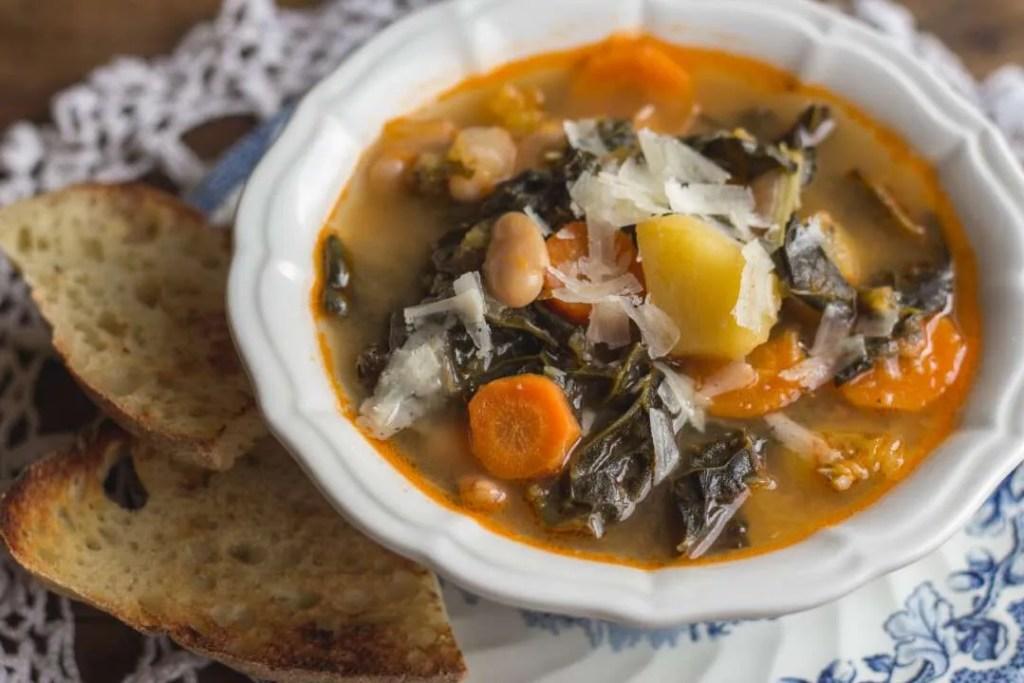 la ricetta del minestrone autunnale