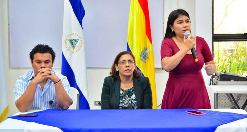 MSc. Norling Solís y Dra. Maritza Andino de la UNAN-Managua y Darling Hernández, del MINJUVE