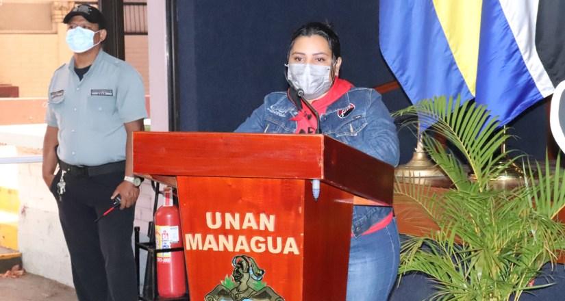Bra. Andrea Ferrufino, Presidenta de la UNEN UNAN-Managua
