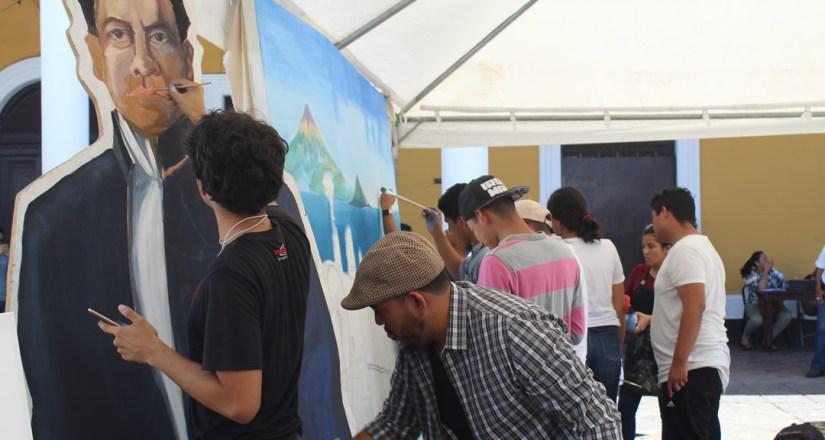 Artistas plásticos de UNAN-Managua y UNI.