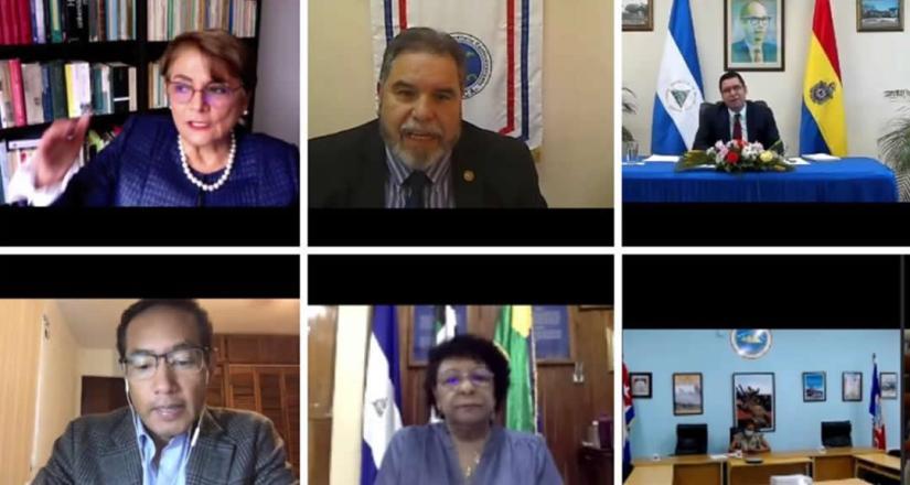 Participantes en la V reunión, región Caribe, Centroamérica y México de la UDUAL