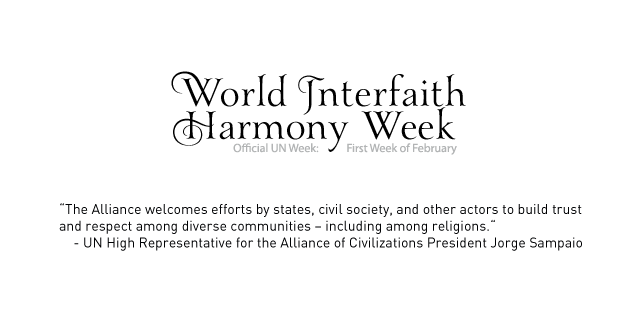 UNAOC Welcomes World Interfaith Harmony Week