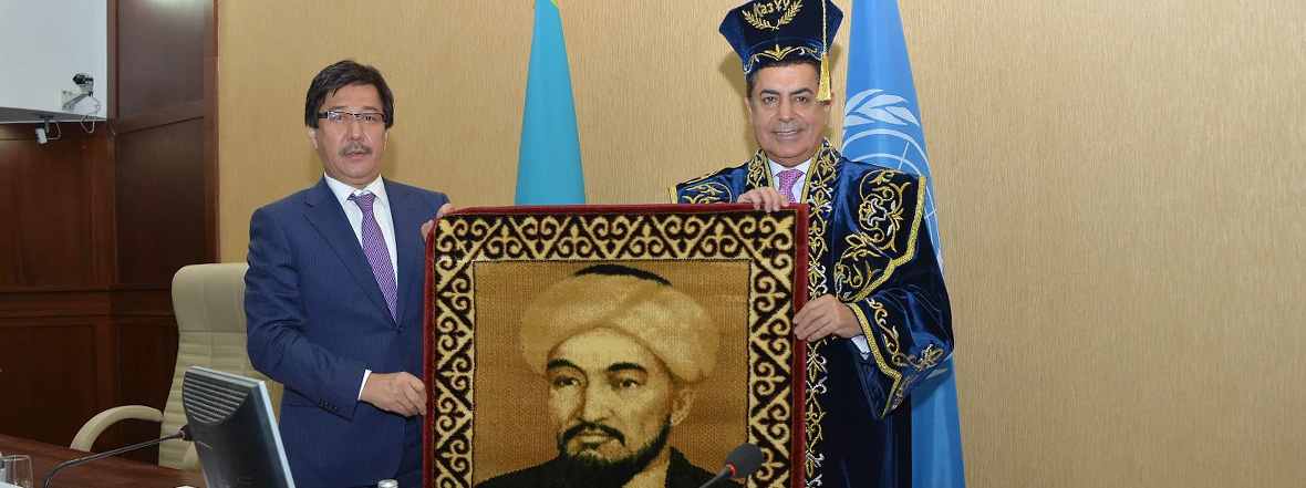 UNAOC High Representative accepts an Honorary Doctorate from Al-Farabi Kazakh National University