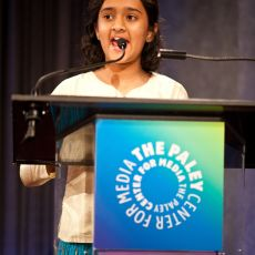 "PLURAL + INTERNATIONAL JURY AWARD. 9-12 age category ""Just Let Differences Be"" (4:22 min., India, by Aarohi Mehendale) Accepted by Aarohi Mehendale"
