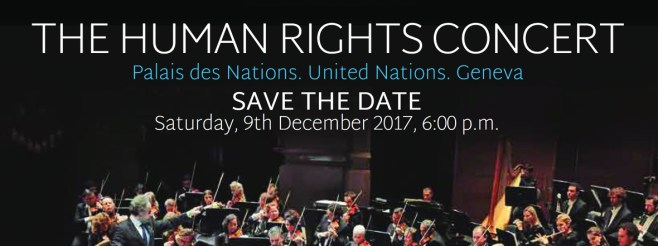 The Human Rights Concert, Palais des Nations, United Nations, Geneva, December 9th, 2017