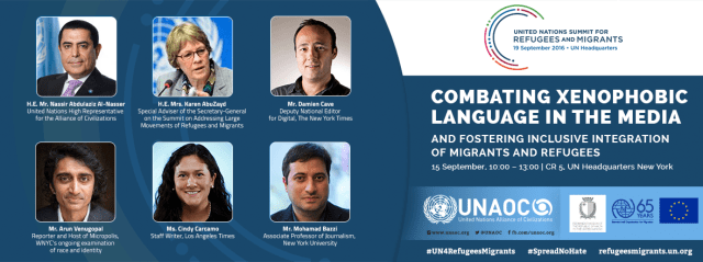 UNAOC Organizes Side Event on Xenophobia during UN General Assembly