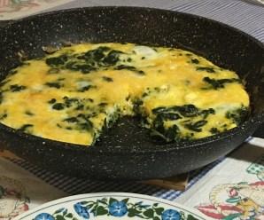 FRITTATA CON LE CIME DI RAPA (ricetta light, ricetta vegetariana)