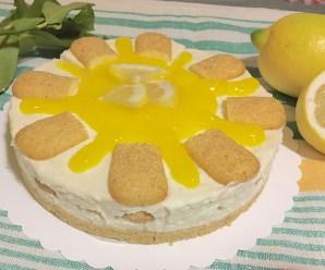 CHEESECAKE AL LIMONE SENZA COLLA DI PESCE (senza cottura, panna, uova, ricetta light)