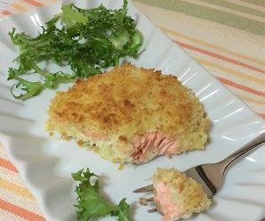 SALMONE GRATINATO CROCCANTISSIMO (senza latte, senza uova)