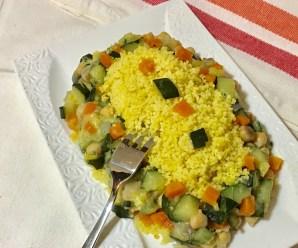 COUS COUS CON VERDURE IN PADELLA (ricetta vegana)