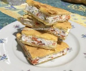TORTA SALATA RICOTTA E SALMONE (senza lievito di birra)