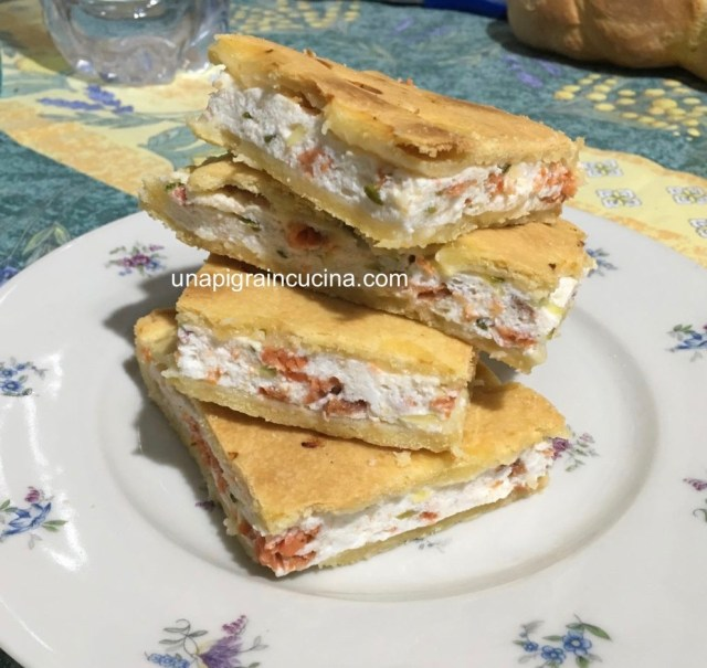 Torta Salata Ricotta e Salmone