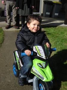 Aydan sur sa moto