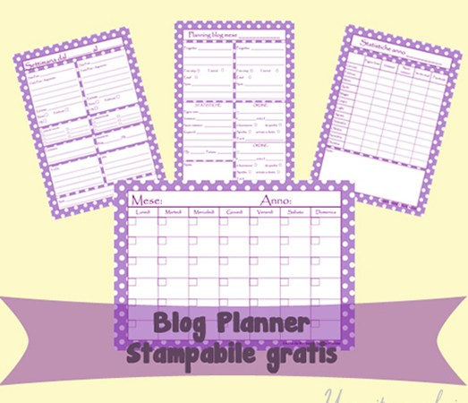 Blog planner pdf da stampare in italiano