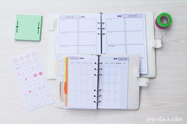 Filofax refills settimanale e mensile A5 e Personal