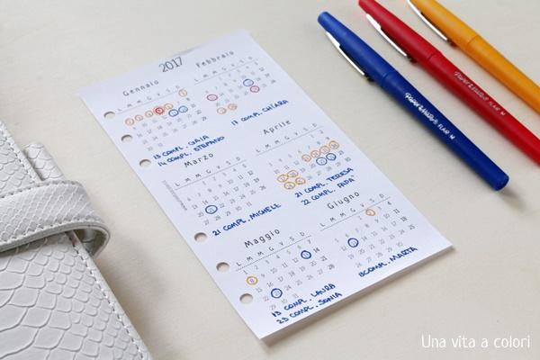 calendario annuale idee utilizzo
