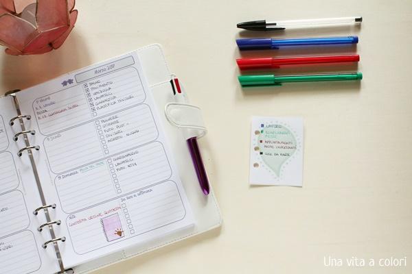 come creare il color coding nell'agenda