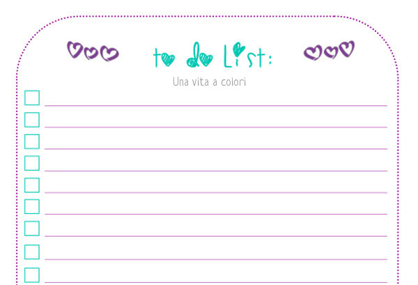 to do list da stampare