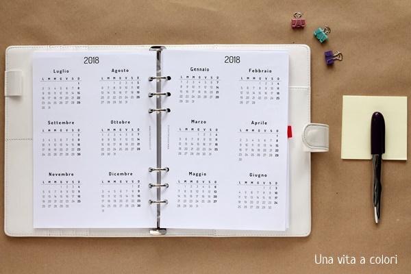 refill 2018 calendario annuale
