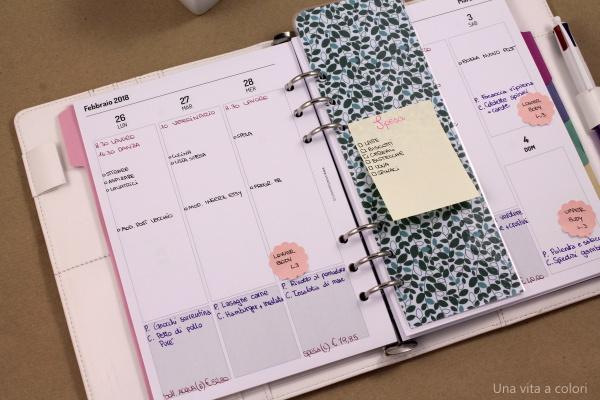 usare agenda funzionale per organizzarsi