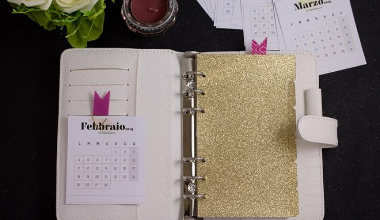 calendario da scrivania 2019