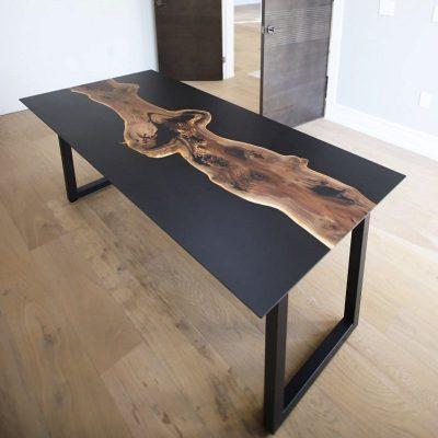 Resina epossidica opaca finitura effetto opaco finishing matte unavitachevale una vita che vale tavoli tavolini river table