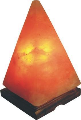 Lampada di sale himalaya forma piramide benessere for Lampada sale himalaya