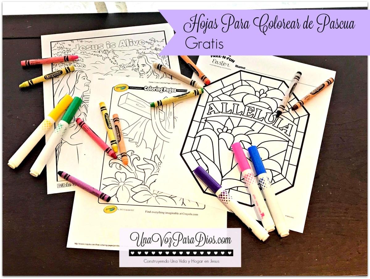 Hojas para colorear de Pascua - Gratis | Una Voz Para Dios