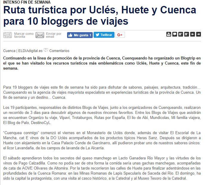 Cuenca Blog Trip Cuenqueando
