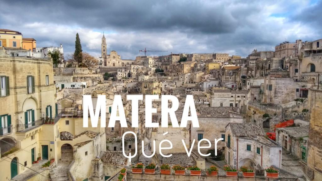 Matera qué visitar