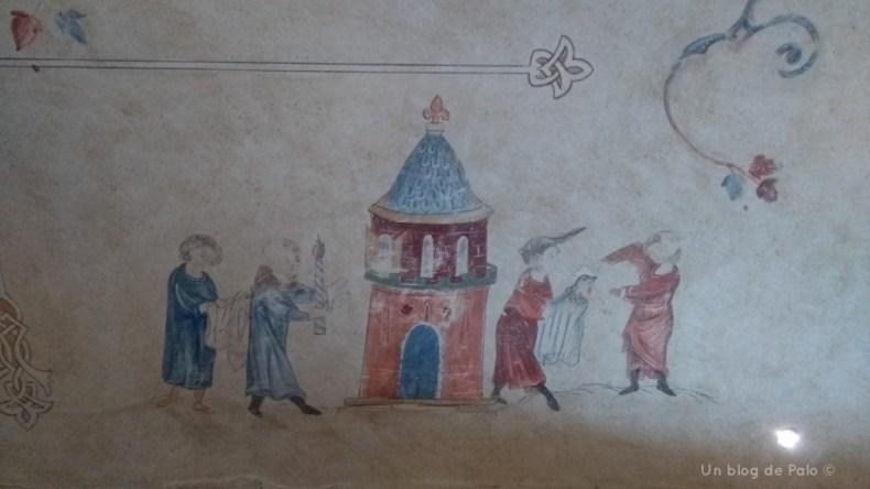 Decoración con pasajes de la historia de Federico II y la cetrería 2