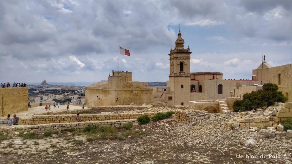 Vistas de la ciudadela de Victoria en Gozo